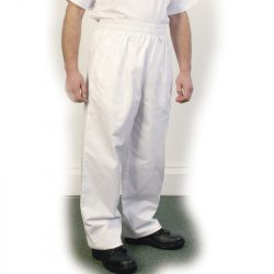 White Baggy Chef Trouser