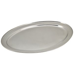 Stainless Steel Oval Meat Flats for Table Service